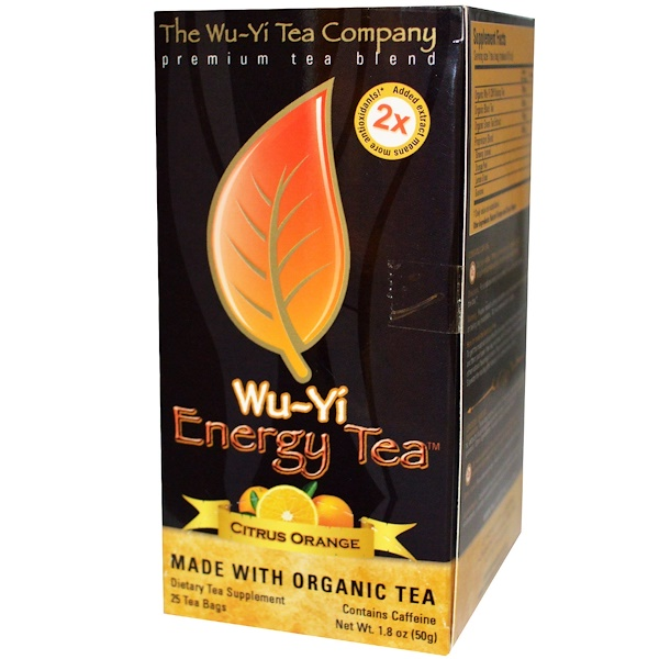 Wu-Yi Tea, Energy Tea, Citrus Orange, 25 Tea Bags, 1.8 oz (50 g) (Discontinued Item)