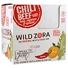 Wild Zora Foods LLC, Meat & Veggie Bar, Chili Beef With Kale, Cayenne & Apricot, 10 Packs, 1.1 oz (31 g) Each
