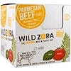 Wild Zora Foods LLC, Meat & Veggie Bar, Parmesan Beef with Tomato, Basil & Kale, 10 Packs, 1.0 oz (28 g) Each