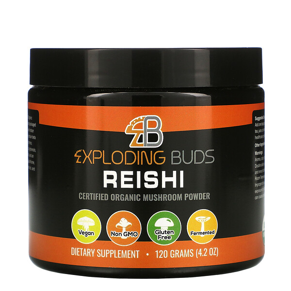 Exploding Buds, Reishi, Certified Organic Mushroom Powder, 4.2 oz (120 g)