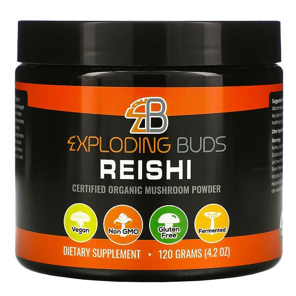 Exploding Buds, Reishi, Certified Organic Mushroom Powder, 4.2 oz (120 g)