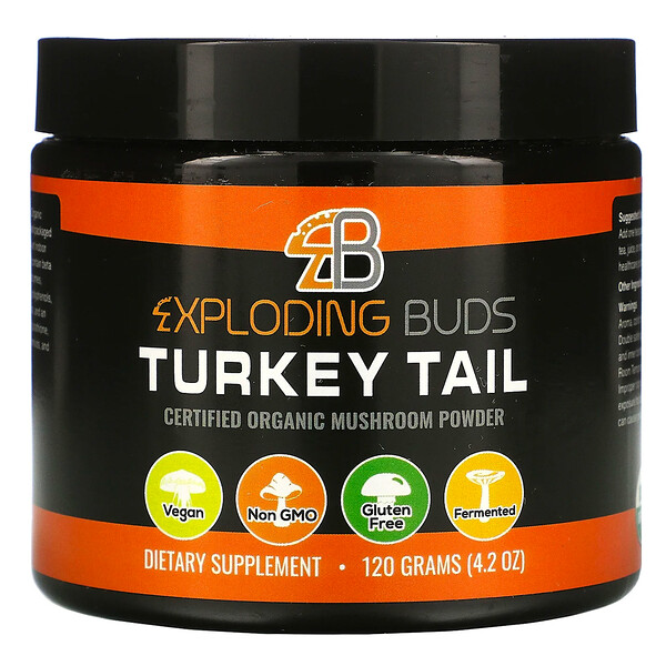 Exploding Buds, Turkey Tail, Certified Organic Mushroom Powder, 4.2 oz (120 g)
