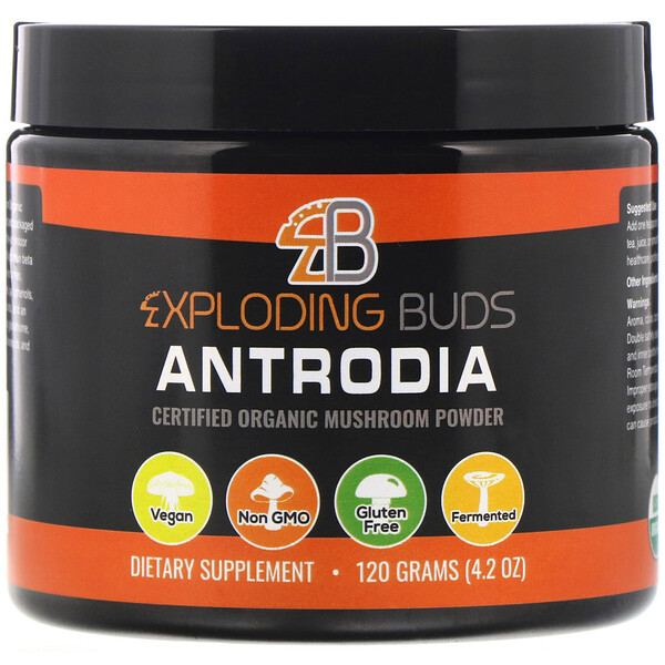 Exploding Buds, Antrodia, Certified Organic Mushroom Powder, 4.2 oz (120 g)
