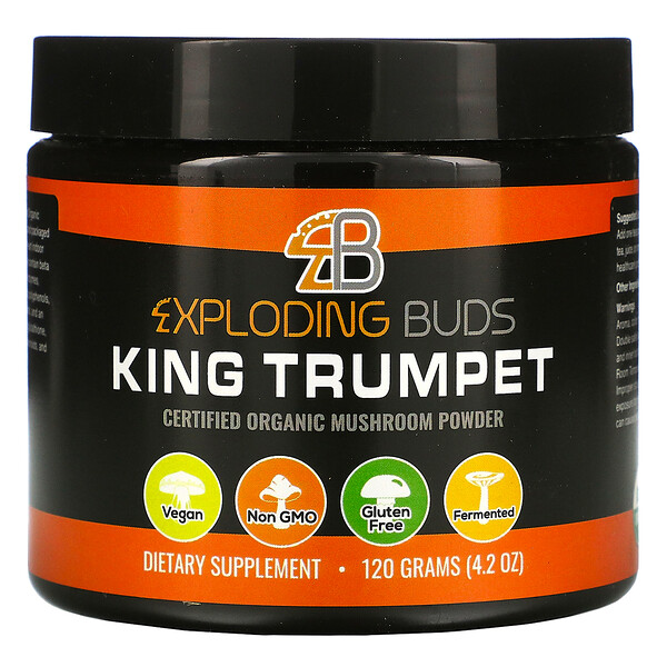 King Trumpet, Certified Organic Mushroom Powder, 4.2 oz (120 g)
