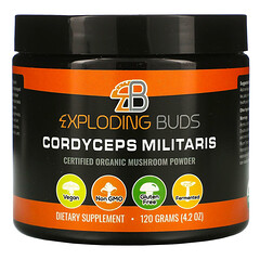 Exploding Buds, Cordyceps Militaris, Certified Organic Mushroom Powder, 4.2 oz (120 g)