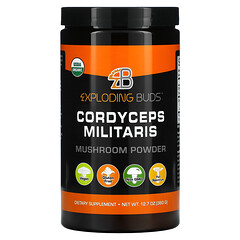 Exploding Buds, Cordyceps Militaris, Mushroom Powder, 12.7 oz (360 g)