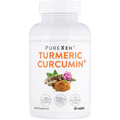 Купить Xenadrine PureXen, Turmeric Curcumin+, куркумин, 60капсуловидных таблеток