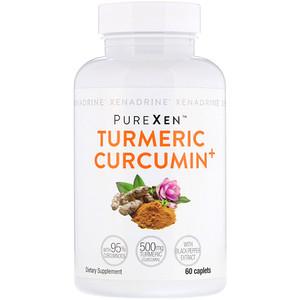 Ксенадрин, PureXen, Turmeric Curcumin+, 60 Caplets отзывы покупателей