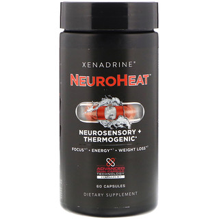 Xenadrine, NeuroHeat, Neurosensory + Thermogenic, 60 Capsules
