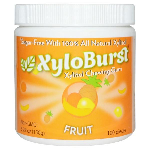 Xyloburst, キシリトールチューインガム、 フルーツ、 5.29オンス (150 g)、 100個