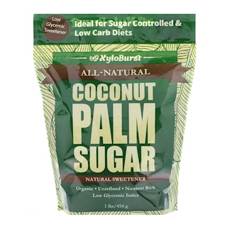 Xyloburst, All-Natural Coconut Palm Sugar, Low Glycemic Sweetener, 1 lb. (454 g)