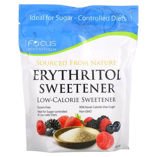 Erythritol Sweetener, Low Calorie Sweetener, 1 lb. (454 g)