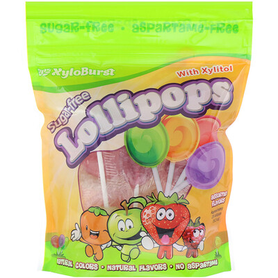 Sugar-Free Lollipops with Xylitol, Assorted Flavors, Approximately 25 (9.3 oz)