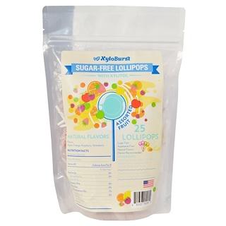 Xyloburst, Sugar-Free Lollipops, Assorted Fruit, 25 Lollipops