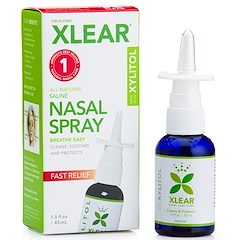Xlear, Xylitol Saline Nasal Spray, Fast Relief, 1.5 fl oz (45 ml)