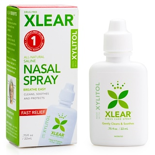 Xlear, Xylitol Saline Nasal Spray, .75 fl oz (22 ml)