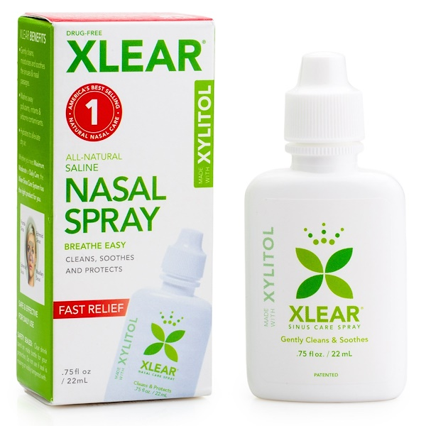 Xlear, Spray Nasal Salino Xilitol, 22 ml (0,75 fl oz)