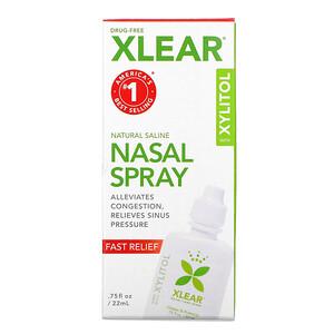 Кслир, Natural Saline Nasal Spray with  Xylitol, Fast Relief, .75 fl oz (22 ml) отзывы