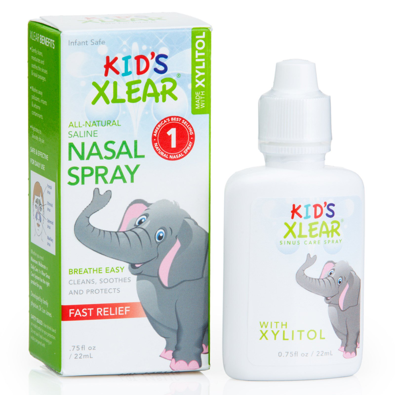 Xlear, Kid's Xlear, Saline Nasal Spray,  75 fl oz (22 ml