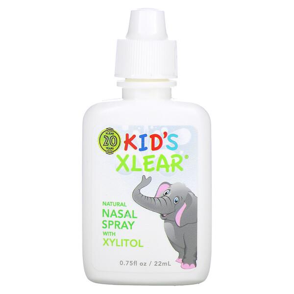 Xlear, Kid's Xlear, Saline Nasal Spray, 0.75 fl oz (22 ml)