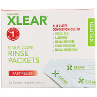 Xlear, Sinus Care Rinse Packets, Fast Relief, 20 Count, 6 g