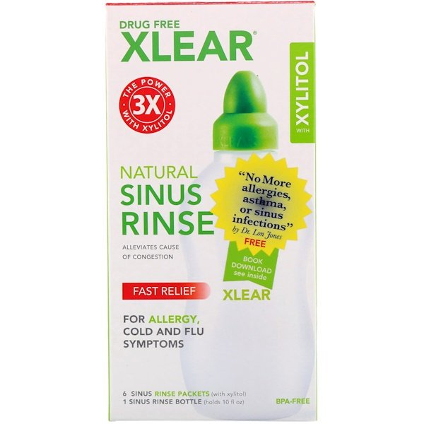 Xlear, Natural Sinus Rinse with Xylitol, 1 Kit