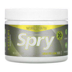 Xlear, Spry,口香糖,天然綠茶,無糖,100 粒裝(120 克)