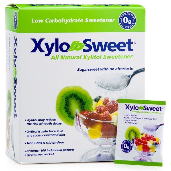 Xlear, Xylo-Sweet, 100 Packets, 4 g Each (Discontinued Item)