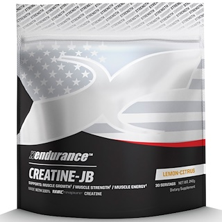 Xendurance, Creatine-JB, Lemon-Citrus, 240 g