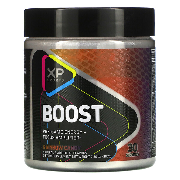 Boost, Pre-Game Energy + Focus Amplifier, Rainbow Candy, 7.30 oz (207 g)