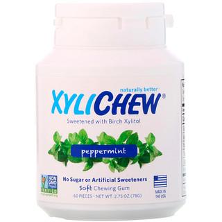 Xylichew, Gesⁿ▀t mit Birken-Xylitol, Pfefferminze, 60 Stⁿck, 2,75 oz. (78 g)