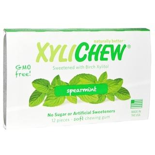 Xylichew, mit Birkenzucker gesüßt, grüne Minze, 12Stück