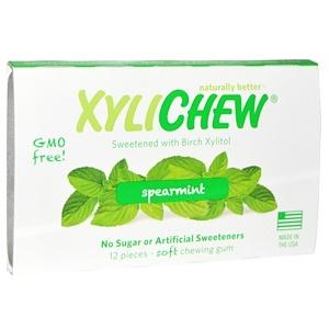 Xylichew Gum, С ксилитом березы, мята курчавая, 12 штук
