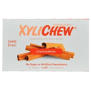 Xylichew, Natürlich gesüßt mit Birch-Xylit, Zimt, 12 Stück