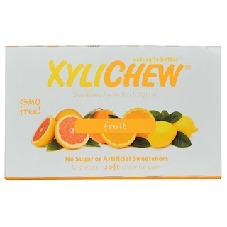 Xylichew Gum, Fruit, 12 Pieces