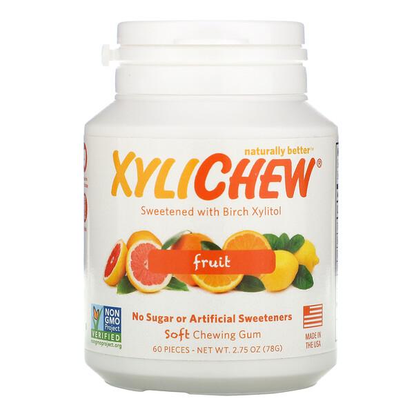 Xylichew, Naturalmente endulzado con Xilitol, Fruta, 60 piezas