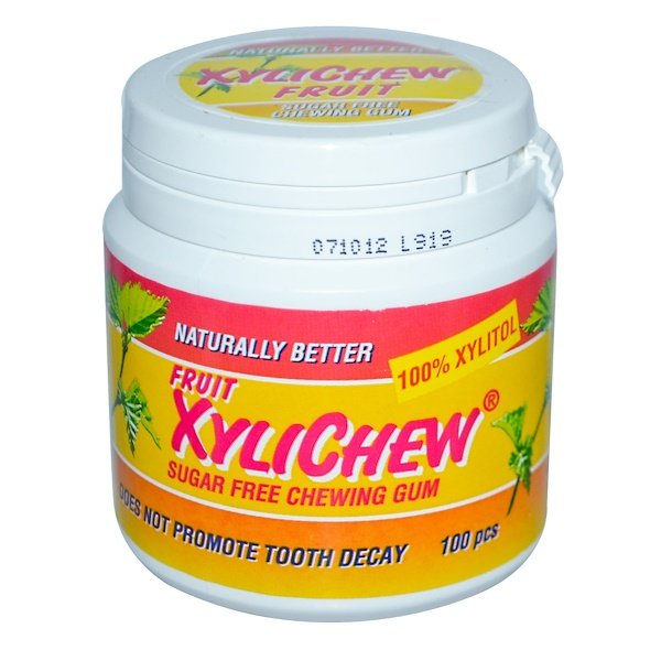 Xylichew Gum, Fruit XyliChew, Sugar Free Chewing Gum, 100 pcs (Discontinued Item)