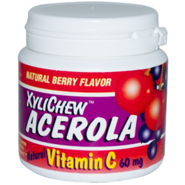 Xylichew, Acerola, Natural Vitamin C, Natural Berry Flavor, 60 mg, 140 Tablets (Discontinued Item)