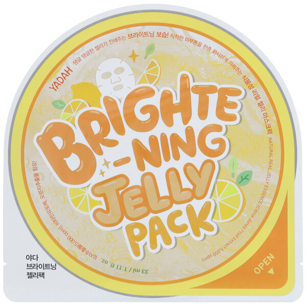Yadah, Brightening Jelly Pack, 5 Sheets, 1.11 fl oz (33 ml) Each