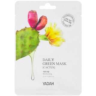 Yadah, Daily Green Beauty Mask, Cactus, 1 Sheet, 0.84 fl oz (25 ml)