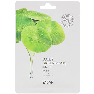 Yadah, Daily Green Beauty Mask, Cica, 1 Sheet, 0.84 fl oz (25 ml)