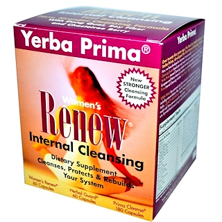 Yerba Prima, Women's Renew Internal Cleansing, 3 Part Program