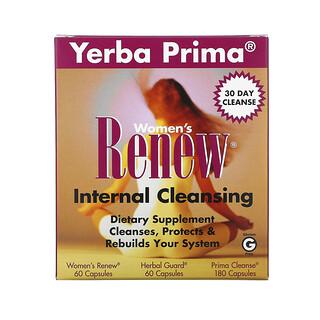 Yerba Prima, Women's Renew Internal Cleansing, 3 Part Program