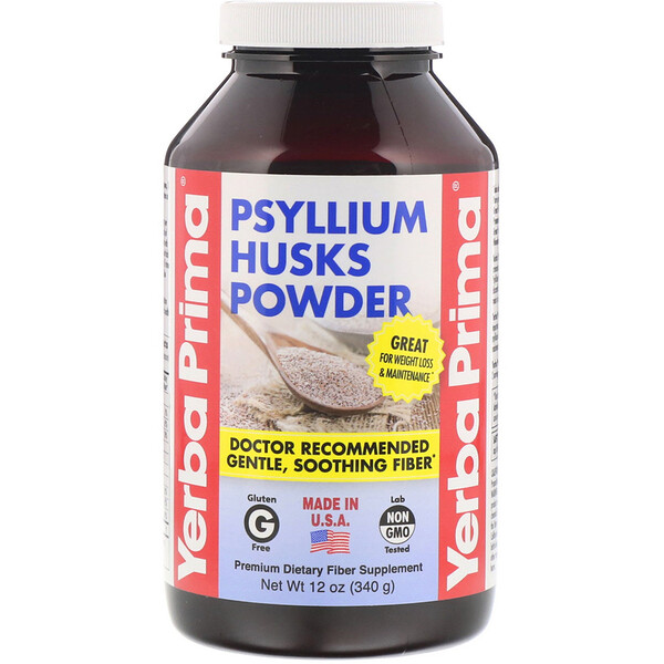 Psyllium Husks Powder, 12 oz (340 g)