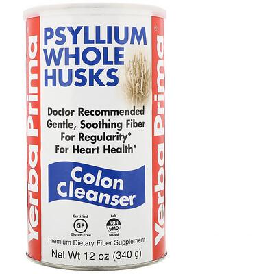 Купить Psyllium Whole Husks, очищающее средство для толстой кишки, 340 г (12 унций)