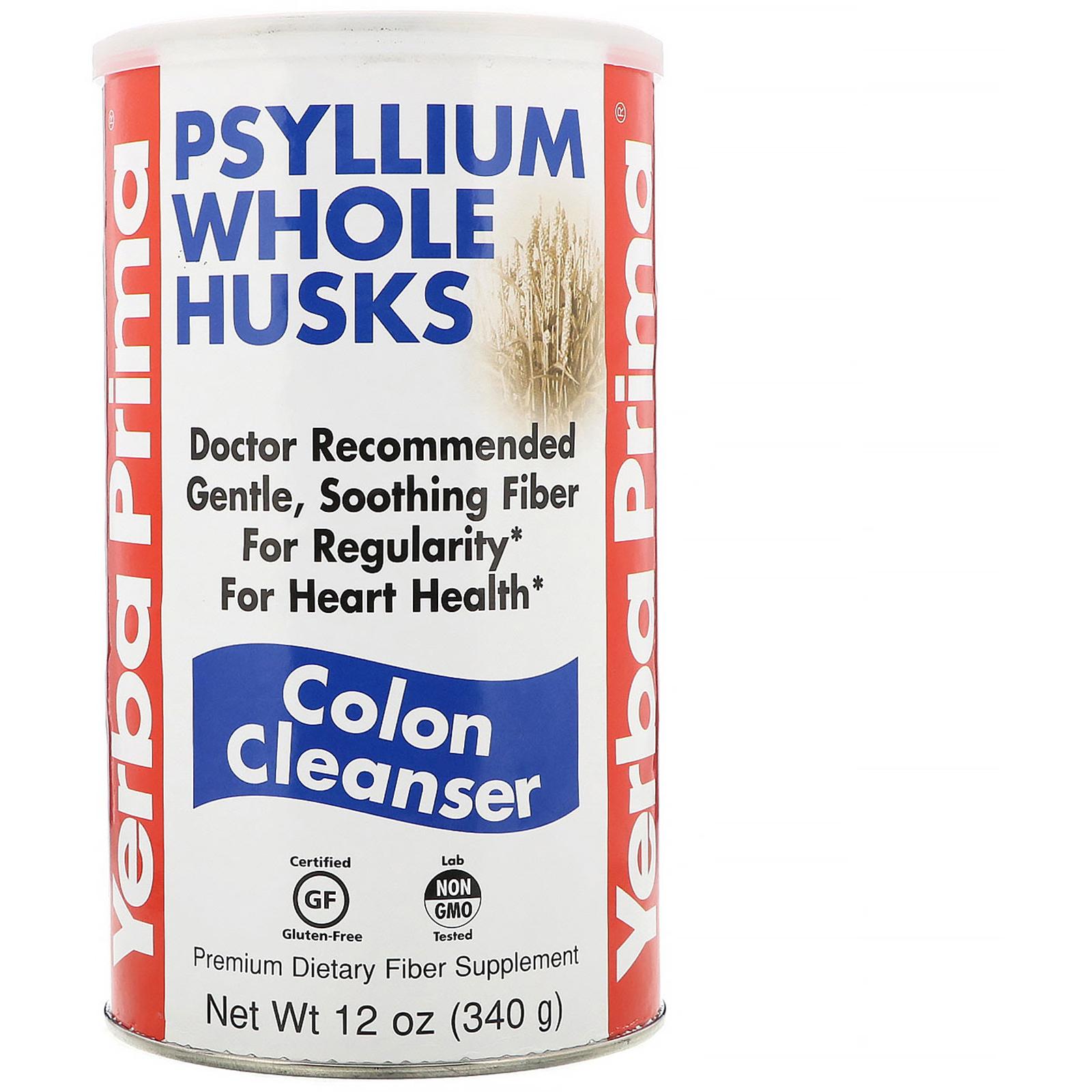Yerba Prima, Psyllium Whole Husks, Colon Cleanser, 12 oz