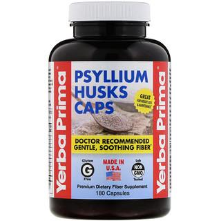 Yerba Prima, Cápssulas de Cáscaras de Psyllium, 625 mg, 180 Cápsulas