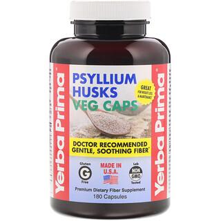 Yerba Prima, Flohsamenschalen, 625 mg, 180 vegetarische Kapseln