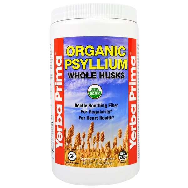 Organic Psyllium Whole Husks, 12 oz (340 g)