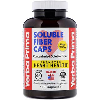 Yerba Prima, Soluble Fiber Caps, 625 mg, 180 Capsules